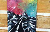DIY schilderen op de zwarte Canvas