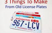 3 dingen te maken van oude nummerplaten