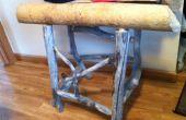 Reycycled natuurlijke Beaver gekauwd rustieke houten tafel, de enige in de wereld