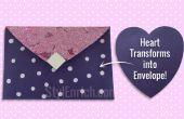 DIY Paper Craft: Leer hoe een hart gevormde Paper veranderd in een mooie envelop in slechts 5 minuten!