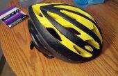 Schilderij van een fiets helm