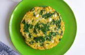 Enoki paddenstoel omelet