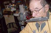Een muzikale harmonica houder voor schond