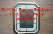 How to Run een batterij-elektrische klok op lege batterijen