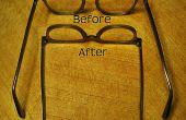 Repareren van losse bril met een rubberen Band