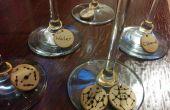 Molecuul wijn glas Charms