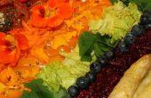 Regenboog Hors-d'oeuvre voor twee - kleurrijke en zeer voedzaam en heerlijk