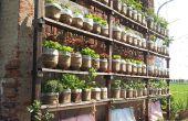 Zelf drenken verticale tuin met gerecycleerd water flessen