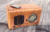 Vintage radio in een spreker voor een MP3-speler...