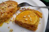 Oranje ondersteboven neer Cake in magnetron
