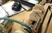 Mini hout draaibank met behulp van schroot hout