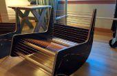 Lessen - midden van de eeuw schommelstoel