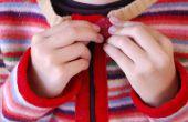 Maak een Childs Cardigan van gerecycled Gevilte wollen trui!