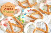 Hoe maak je Chocolade doopte Pretzels - Last Minute eetbare geschenken