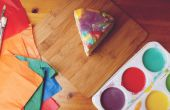 Paint Drip Cake van de regenboog gesmolten