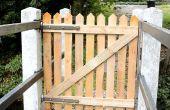 Pallet Hout Fence-Gate voor mijn brug