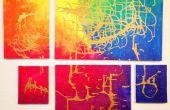 Regenboog Metallic Wall Art