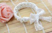 Wedding Jewelry Design-Hoe maak je een witte parel Lace Manchet armband voor bruid