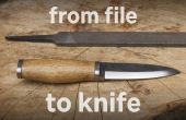 Uit bestand mes (met eenvoudige hulpmiddelen)
