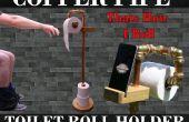 Koperen pijp wc-rol houder & telefoon Stand