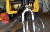 Gebogen fiets vorken herstellen voor Pedicabs