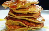 10mins glutenvrij ontbijt: gezonde pluizig bloem-minder pannenkoeken