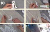DIY bruiloft jurk gemaakt van 80 plastic bekers