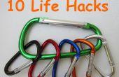 10 life Hacks met karabijnhaken
