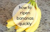 Hoe bananen rijpen snel