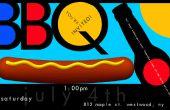 Een kleurrijke BBQ-Party uitnodiging Poster maken in Photoshop