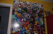 Hergebruiken CD albumhoes in gigantische muur collage.