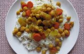 Kikkererwten en wortel tangine