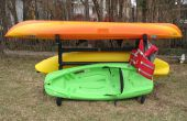 Hoe maak je een buiten Kayak-opslag Rack