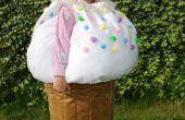 Cupcake kostuum met een kers op bovenkant