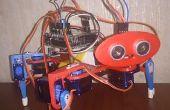 3D afgedrukt viervoeter Arduino Robot