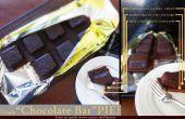 """Triple """"Chocolate Bar"""" PIE (chocolade taart vorm van een chocolade Bar)"""
