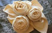 Royal Rose servetten: Folding Tutorial