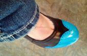 DIY geschilderd vleugeltip schoenen