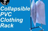 Maak een draagbare, inklapbare kleding rek van PVC voor 10 dollar in minder dan een uur
