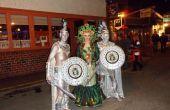 Medusa en standbeelden Halloween handgemaakte kostuums 2012
