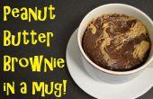 Pindakaas Brownie in een mok!