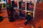 Eenvoudige Wijnrek van Pallet hout