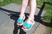 GLITTER schoenen - gerecycleerd uit lelijke versleten schoenen kijken