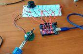 Temperatuur niveau staafdiagram LM35 met Arduino