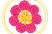 Hoe haak een zeven Petal bloem
