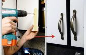 Installeren van de keuken kast deur behandelt
