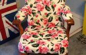 Vintage stoel aan Vintage Flair (een houten stoel stofferen)