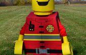 Brandweerman van Lego Minifig kostuum