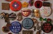 Vintage Pin / Button Wall Art