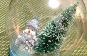 DIY Glitter sneeuwbol